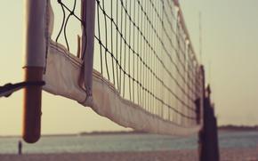 Picture beach, summer, mesh, volleyball