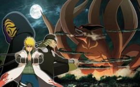 Picture moon, game, anime, man, ninja, asian, mask, Uchiha, manga, shinobi, japanese, Namikaze Minato, Sarutobi Sends …