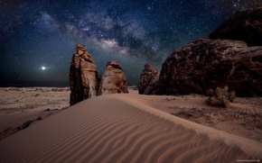 Picture sand, stars, mountains