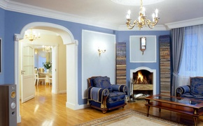Picture design, style, room, interior, fireplace, living room