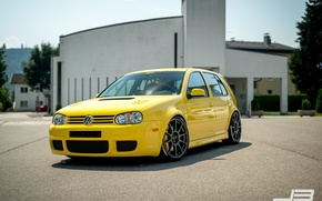 Picture volkswagen, turbo, wheels, Golf, golf, tuning, front, gti, face, germany, low, r32, stance, mk4, vr6, …