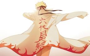 Wallpaper labels, light, guy, Naruto, Naruto, Cape, art, Anime, blonde hair, Uzumaki Naruto, Uzumaki Naruto, short ...