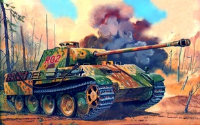 Picture figure, Panther, the second world, the Germans, medium tank, don greer, Sd.Car. 171, Panther, PzKpfw …