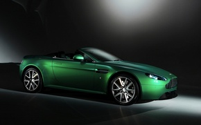 Picture greens, background, Aston Martin, Aston Martin, Roadster, convertible, Vantage S Roadster