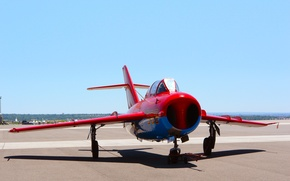 Picture Day, Wings, Nose, Aviation, jet fighter, The MiG-17, Mikoyan, Fresco, Gurevich, 566