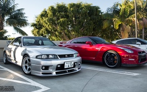 Picture nissan, turbo, red, wheels, skyline, japan, jdm, tuning, gtr, front, face, racing, r33, r35, nismo, ...