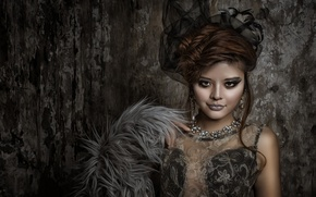 Picture look, decoration, style, model, necklace, makeup, Asian, hairstyle