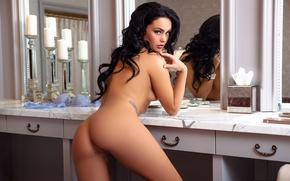 Wallpaper ass, girl, model, body, back, ass, playboy, mirror, brunette, girl, sexy, model, playboyplus, Kristie Taylor