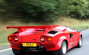 Picture machine, Lamborghini, Countach, back, Lamborghini, LP5000