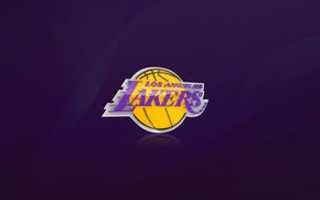 Wallpaper Basketball, Background, Logo, Purple, NBA, Los Angeles, Los Angeles Lakers