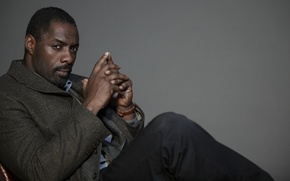 Picture look, watch, the series, coat, serial, luther, idris elba, Idris Elba, Luther