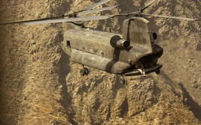 Picture soldiers, helicopter, flight, mountains
