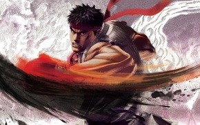 Picture the game, battle, warrior, art, fighter, character, Ryu, Street Fighter IV