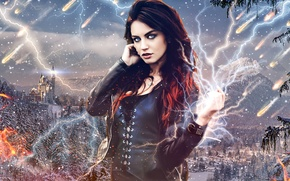 Picture Girl, Fire, Lightning, Castle, Fiction
