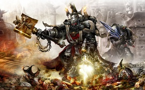 Picture armor, Black Templars, warhammer 40k, bolter, Black, Grimaldus, power, Considerant, Chaplain, Templar