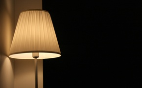 Picture lamp, black background, lampshade