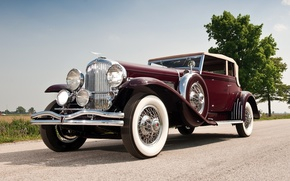 Picture the sky, retro, the front, 1931, beautiful car, Convertible, SJ 272 2293, by Rollston, Duesenberg, …