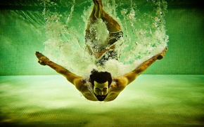 Picture water, squirt, sport, pool, male, sport, pool, water, Men, spray