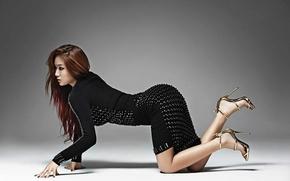 Picture girl, music, brunette, Asian, sexy, body, South Korea, k-pop, sistar
