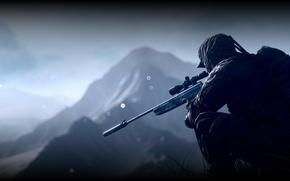 Wallpaper Battlefield 4, soldiers, equipment, sniper