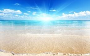 Wallpaper sea, bright, light, beach