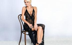 Picture lingerie, blonde, model.sexy, Hannah Hilton