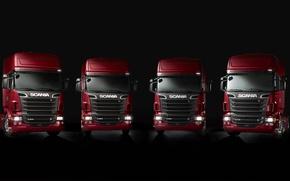 Wallpaper a lot, machine, Scania