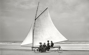 Wallpaper sail, wheel, ladies, Buer, 1900-the year, USA, retro