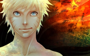 Picture blue eyes, naruto, grin, Uzumaki naruto