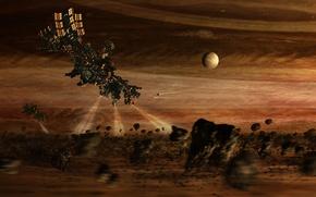 Picture space, light, fantasy, sci fi, spacecraft, unknown