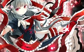 Picture girl, tape, art, bow, touhou, kagiyama hina, fumiko, miruyuana