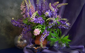 Picture purple, bouquet, texture, Lupin