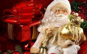 Picture New Year, Christmas, Christmas, decoration, santa, Merry