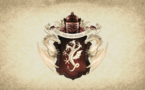 Picture symbol, dragon, Targaryen, A Song of Ice and Fire, serie tv, shield, Game of Thrones, ...