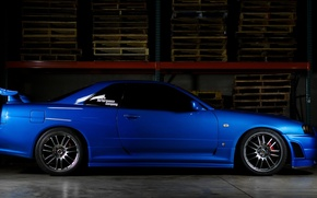 Picture horizon, car, Nissan, skyline, sky, Nissan, gtr, r34, the fast and the furious 4