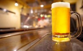 Wallpaper bar, beer, glass