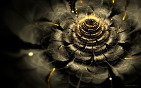 Wallpaper graphics, bokeh, fractal, light, abstraction, Wallpaper, flower