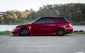 Picture Subaru, wheels, subaru, tuning, purple, stance, WRX Wagon