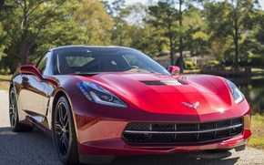 Picture Corvette, red, Stingray