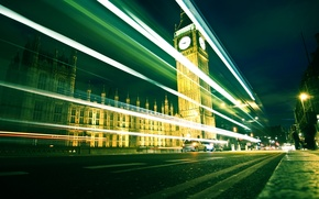 Picture road, machine, city, watch, road, England, London, the evening, photos, UK