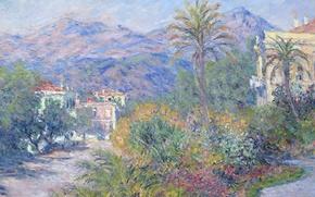 Wallpaper picture, Claude Monet, peispi, Strada Romana in Bordighera