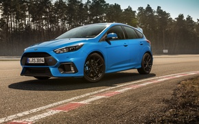 Picture ford, blue, focus, track