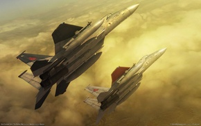 Picture flight, clouds, the plane, fighters, zero the belkan war, ace combat