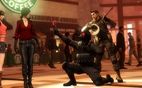 Picture flower, love, rendering, guitar, resident evil, hunk, Chris Redfield, Piers Nivans, ada wong, Nikolai Zinoviev