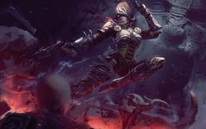 Picture hood, Diablo 3, crossbow, Demon hunter