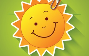 Wallpaper The sun, Smile, Clip