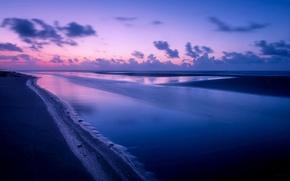Picture sea, night, landscape