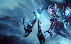 Picture girl, art, League of Legends, irelia, Will of the Blades, frostblade