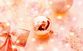 Picture stars, pink, holiday, new year, sequins, new year, pink, holiday, Christmas balls