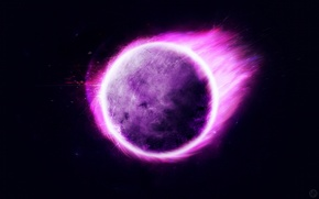 Picture planet, violet, Sci FI, stranger